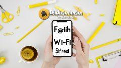 Fatih Wifi internet Şifresi