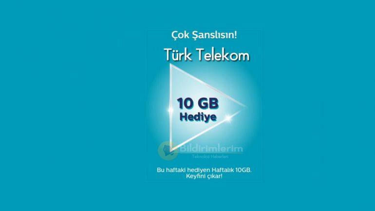 Kullananı Çok Türk Telekom 10 GB Bedava internet