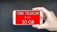 Sil Süpür Türk Telekom 30 GB Bedava internet