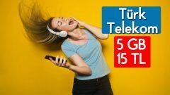 Türk Telekom Ekstra 5 GB internet 15 TL
