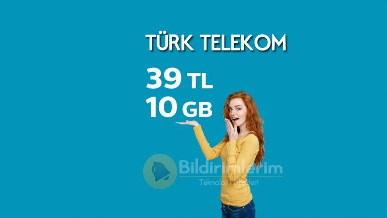 Türk Telekom Enerji Bakanlığı 10 GB Tarifesi İçeriği Bol