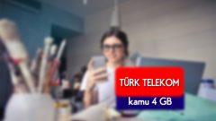 Türk Telekom Kamu 4 GB Tarifesi