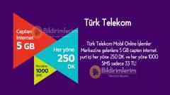 Türk Telekom Mobilist 5 GB Paketi Çok Kullanılan Tarife