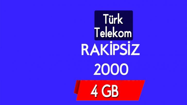 Türk Telekom Rakipsiz 2000 Tarifesi