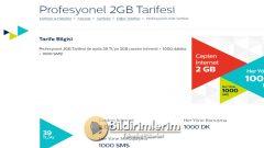 Türk Telekom Profesyonel 2 GB Tarifesi, Paketi