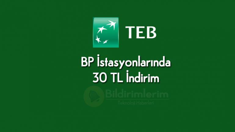 TEB Müşterilerine 30 TL hediye son gün 15 Kasım 2019