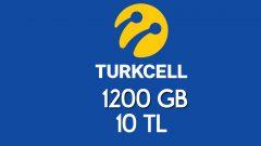 1200 GB internet Sadece Turkcell Abonelerine Özel