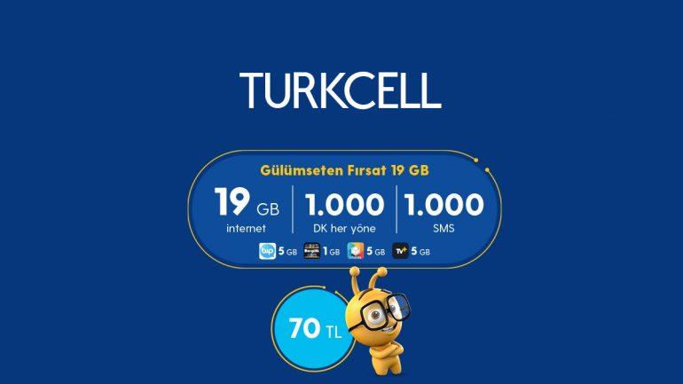 Turkcell Gülümseten Fırsat 19 GB Paketi – Yeni Tarife