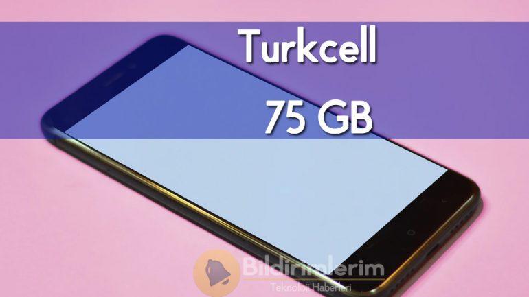 Turkcell Lifecell Mega Mix Paketi, Lifecell 75 GB Tarifesi