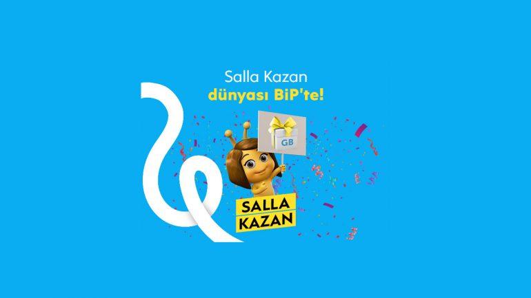 Turkcell Salla Kazan BiP Bedava internet Kampanyası