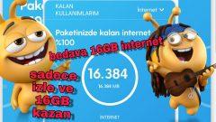 Salla Kazan Hak Arttırma, Turkcell Bedava internet