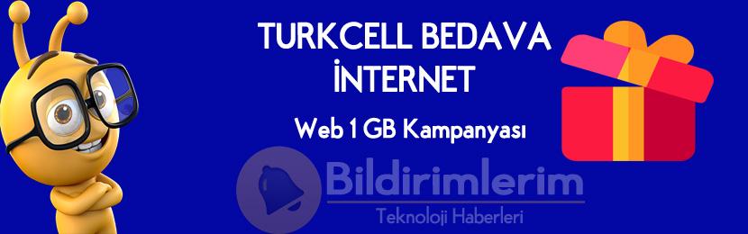 Turkcell Web Bedava internet
