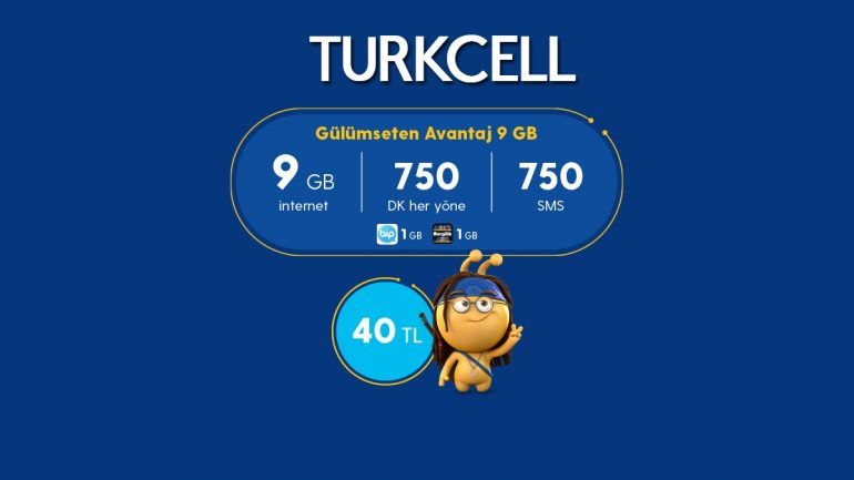 Turkcell'in Gülümseten Avantaj 9 GB Paketi