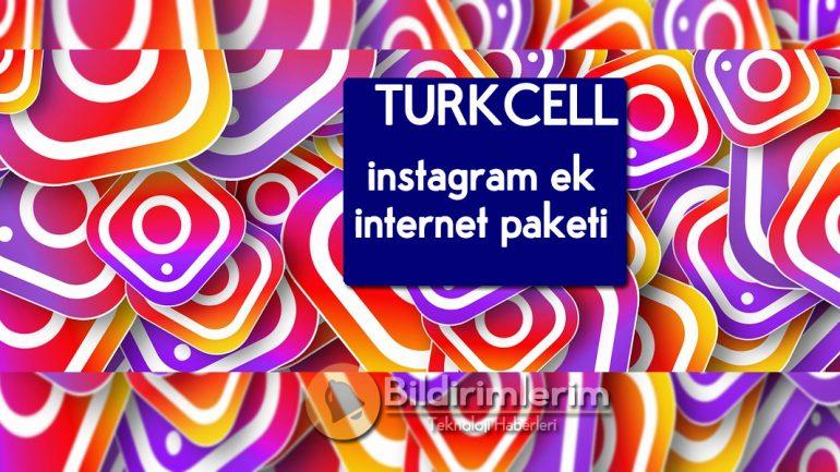 Turkcell Instagram Ek internet Paketi