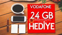 Vodafone bedava internet 12 ay boyunca 2 GB hediye