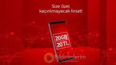 Vodafone 20 GB internet 20 TL