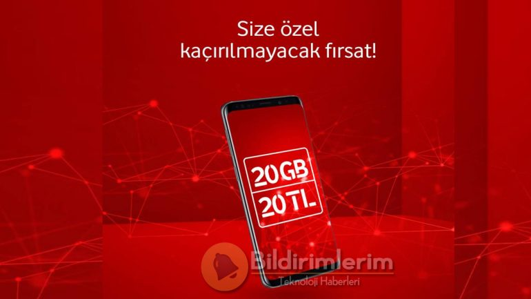Vodafone 20 GB internet 20 TL