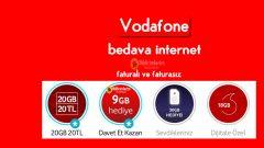 Vodafone Bedava internet 2020