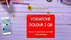 Vodafone Doldur 3 GB Nasıl Yapılır, nasıl iptal edilir?