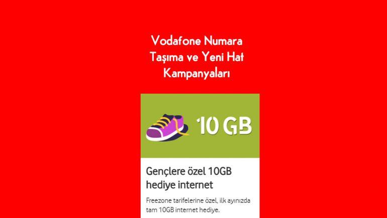 Vodafone Gençlere özel 10 GB hediye internet 2020