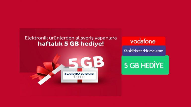 Vodafone GoldMasterHome.com Haftalık 5 GB Bedava internet