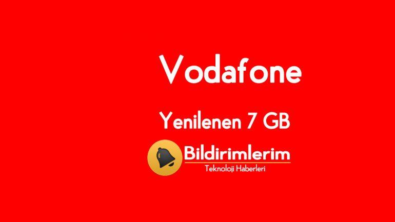 Vodafone Yenilenen 7 GB Tarifesi 27 TL