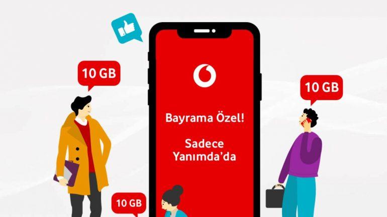 Vodafone Kurban Bayramı 10 GB Bedava internet Kampanyası