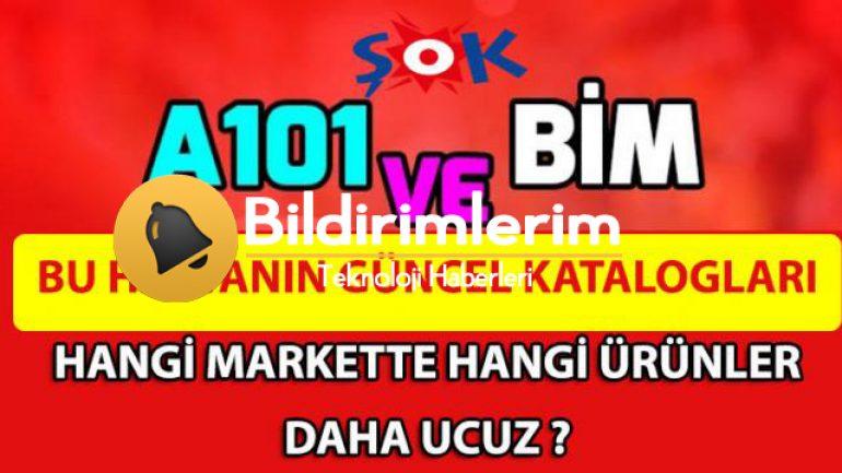 A101, BİM ve ŞOK Marketlerde Kampanyalı Ürünler, Aktüel ürün İndirim Kataloğu