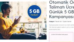 Otomatik Ödeme Talimatı Günlük 5 GB Hediye
