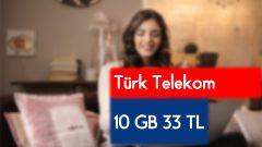 Türk Telekom Selfy Dijital Medium Paketi 10 GB 33 TL