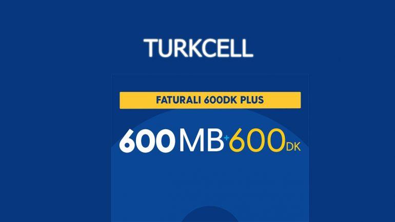 Turkcell Faturalıya Geçiş Faturalı 600 DK Plus Paketi