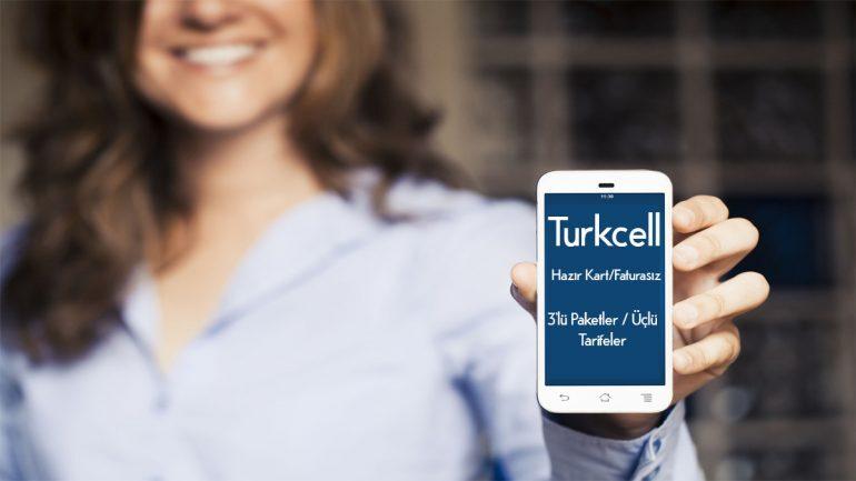 Turkcell Faturasız 3'Lü Paketler – Hazır Kart Tarifeler