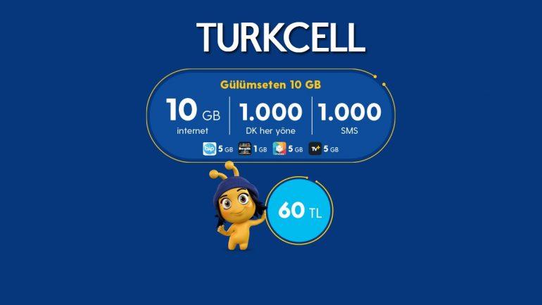 Turkcell'den Gülümseten 10 GB Paketi