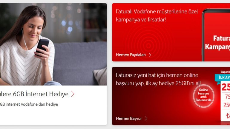 Vodafone Bedava internet 7 Kampanya 2020