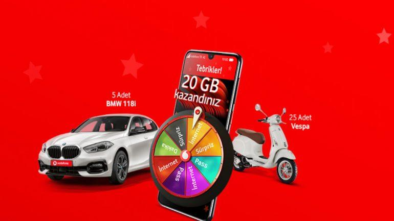 Vodafone Hediye Çarkı yenilendi 2020