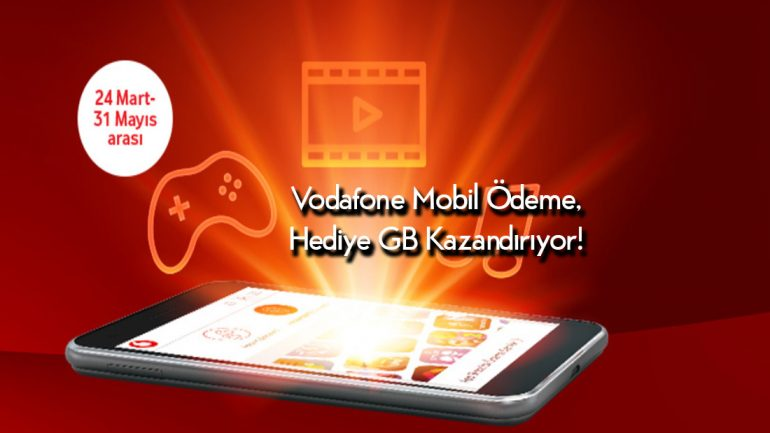 Vodafone Mobile Ödeme ile 1 GB Bedava internet